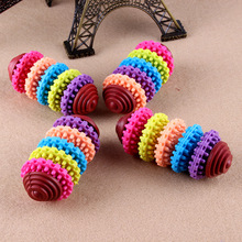Colorful dog toys Puppy dental teething healthy bite chew 5 Styles gear shape pet playing Pet product toy