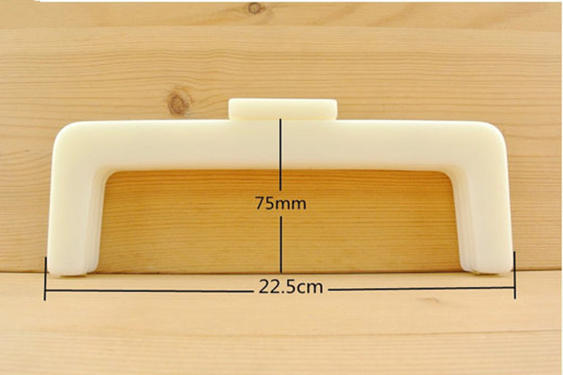 8 1/2 inch x 3 inch ( 22cmx7.5cm ) Acrylic Resin Purse frame White Beige Pearl Color Fashion Acrylic Purse Handle