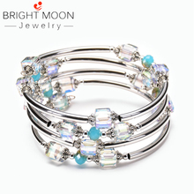 Bright Moon New Style Handmade Stone Bracelets Bracelet Natural Crystal Set for Women