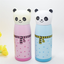 цена на 350ml Panda Modeling Insulation Cup 11hours Insulation Eco-Friendly Stainless Steel Vacuum Flasks & Thermoses Belly Cup promo-09