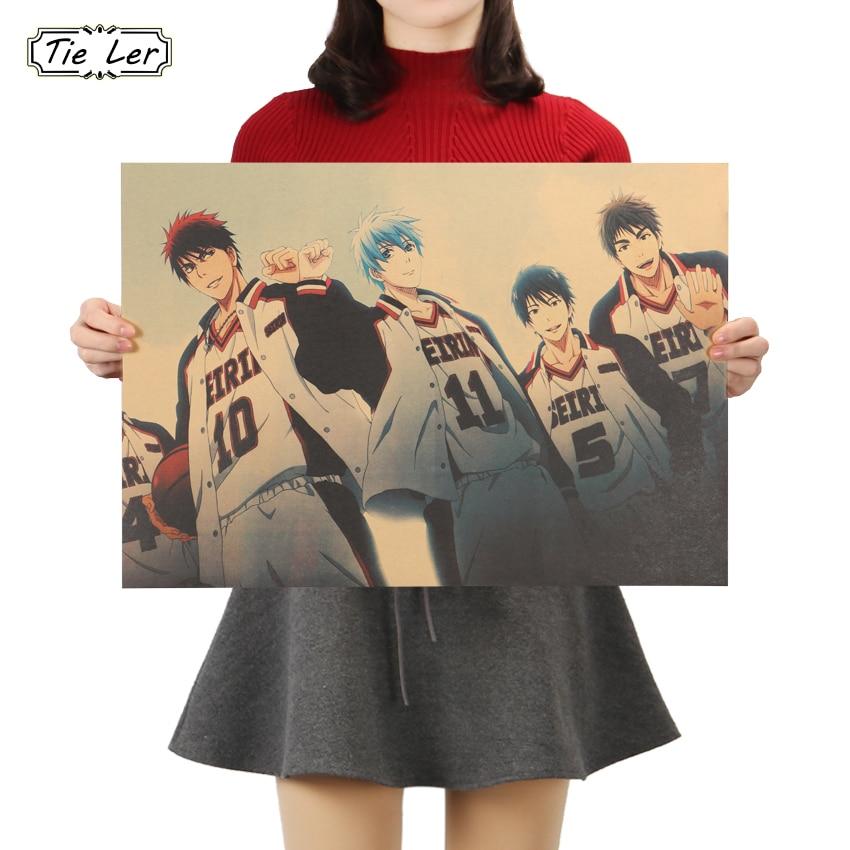 Галстук; Баскетбол куроко Классический Аниме декоративная живопись крафт Бумага Бар плакат декоративной живописи наклейки на стену