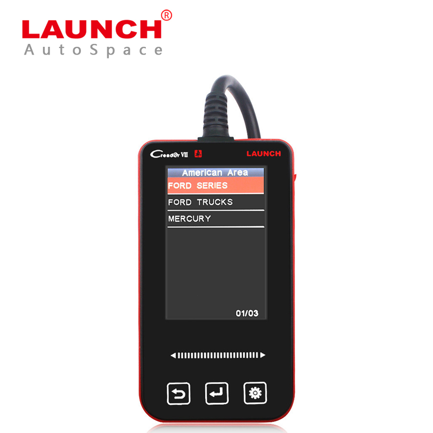 New Creader VII 7 For Ford VCM OBD Diagnostic ABS Airbag Engine Scanner Automotive Code Reader For Focus Fiesta Mondeo Kuga F150 free shippinng diy om580 obd scanner automotive obd2 eobd car code reader for engine abs dsc srs fault diagnostic tool