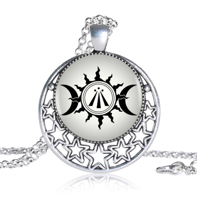 Awen Celtic Druidic Symbol Pendant Triple Moon And Sun Photo