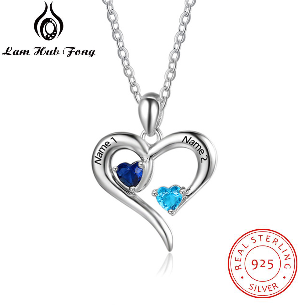 Personalized Heart 925 Sterling Silverpendant Necklace