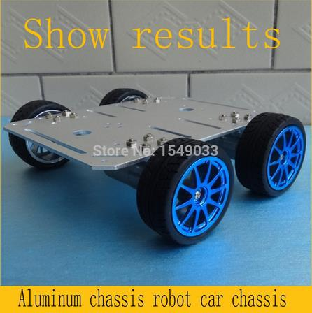 NEW 4wd RC Car Chassis 25mm Motor Smart Robot Car High-strength Aluminum Alloy Tank DIY RC Toy Remote Control Development Kit original doit silver c300 metal 4wd wheel car chassis development kit remote control diy rc toy smart robot car model