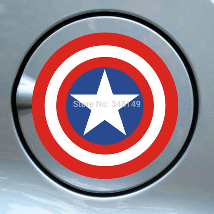 Aliauto car styling Captain America scar and motorcycle sticker and decals for chevrolet cruze ford focus volkswagen mazda 3 kia