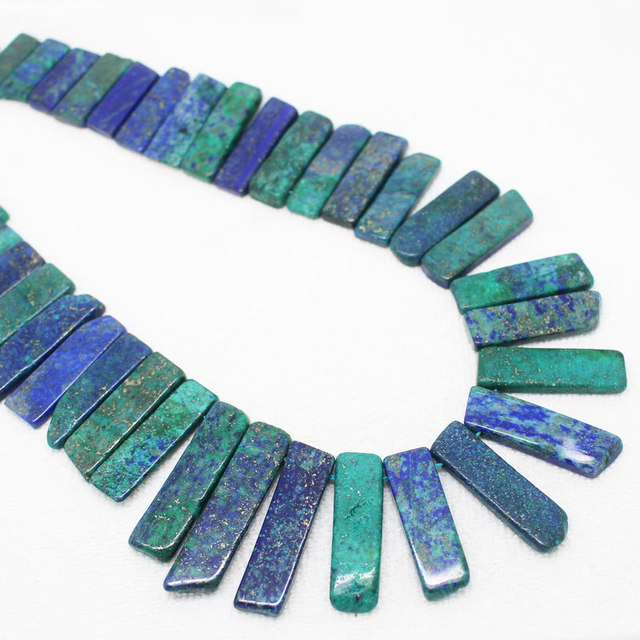 "10x15-40mm Lapis Phoenix Freeform Beads 16""/41cm ,Beads For DIY Jewelry making !We provide mixed wholesale for all items!"