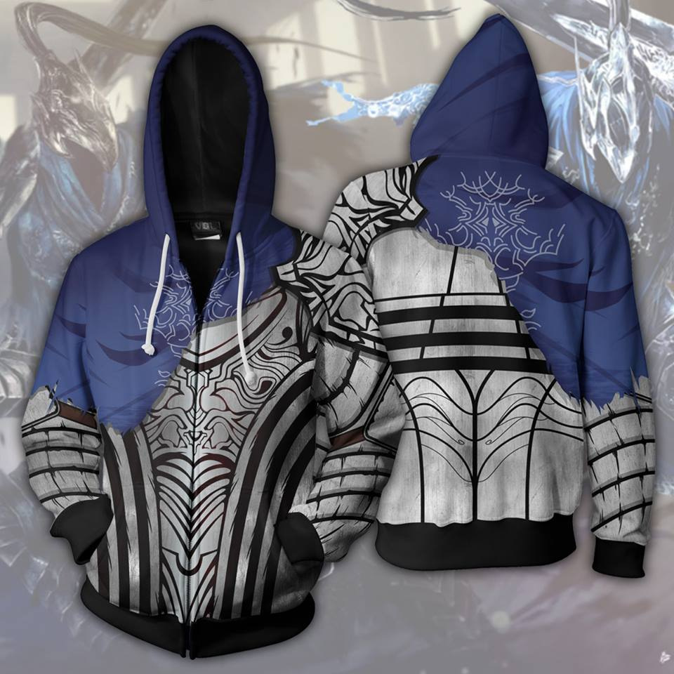 Dark Souls Hoodies Sweatshirt Costumes Cosplay PS3 PS4 Coat Jacket Outwear in Game Costumes from Novelty Special Use