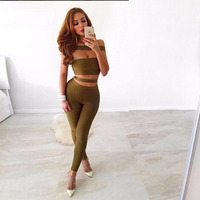 Seamylatop quality summer new fashion women olive green black bandage jumpsuits 2018 sexy off the shoulder skinny women bodysuit