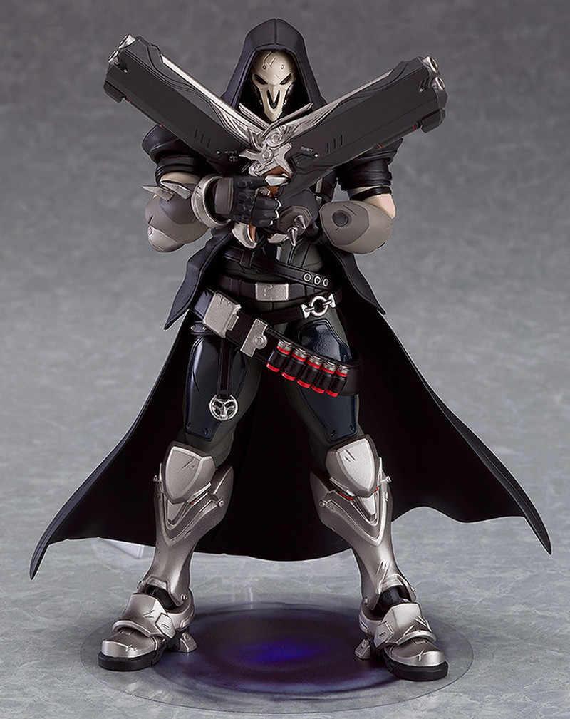 Figma 393 Jogo OW Caráter Reaper 17 centímetros BJD Figura de Ação Modelo Brinquedos Presentes de Aniversário de Natal