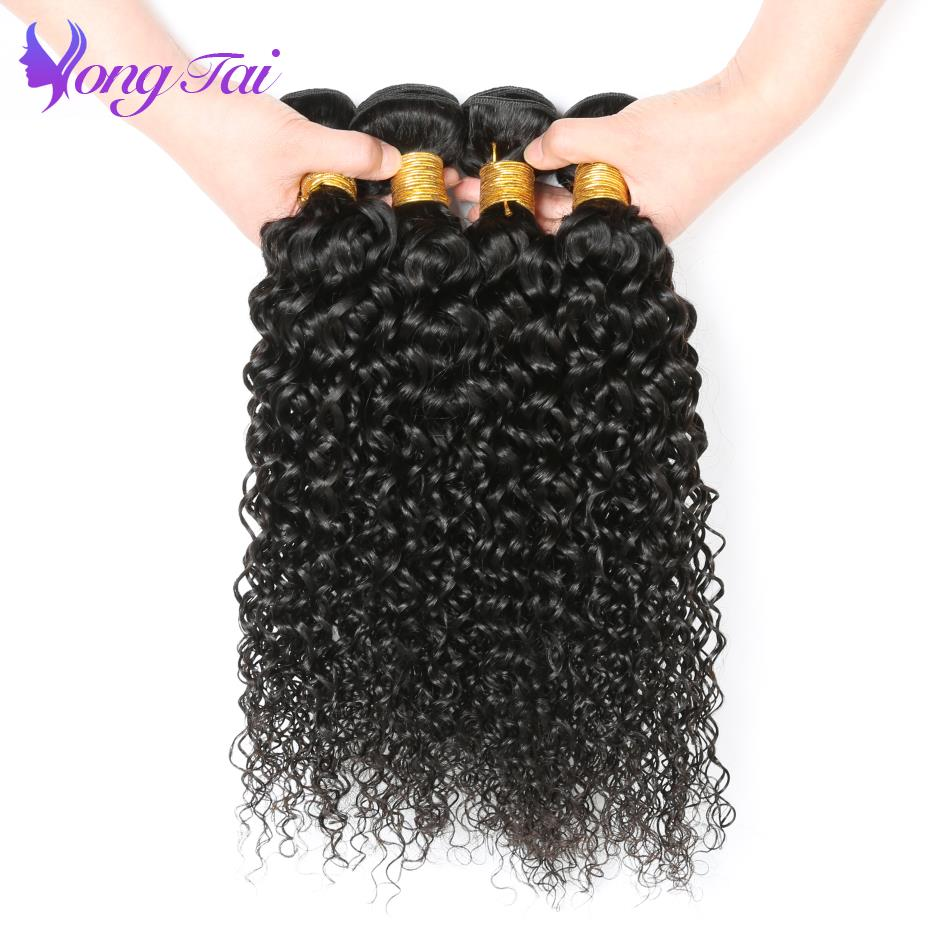 Brazilian Afro Kinky Curly Hair Weave Bundles Yongtai 100%Human Hair Bundles Natural Color Remy Hair Extension Costomied 10-26