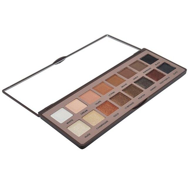 16 Cores Glitter Smoky Eyeshadow Makeup Palette de Chocolate Profissional Pigmento da Cor Da Sombra de Maquiagem Cosméticos