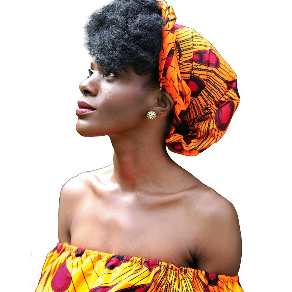 Shenbolen African weiß schwarz wachs druck Headwrap Handgemachte Frauen Stirnband Schal Turban Baumwolle 72*22