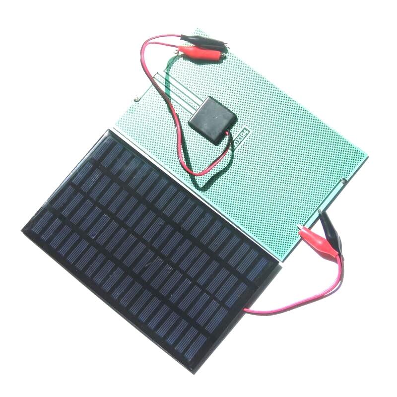 BUHESHUI 2.5W 18V Solar Cell Polycrystalline Solar Panel+Crocodile Clip For Charging 12V Battery System 194*120MM 2pcs/lot Epoxy