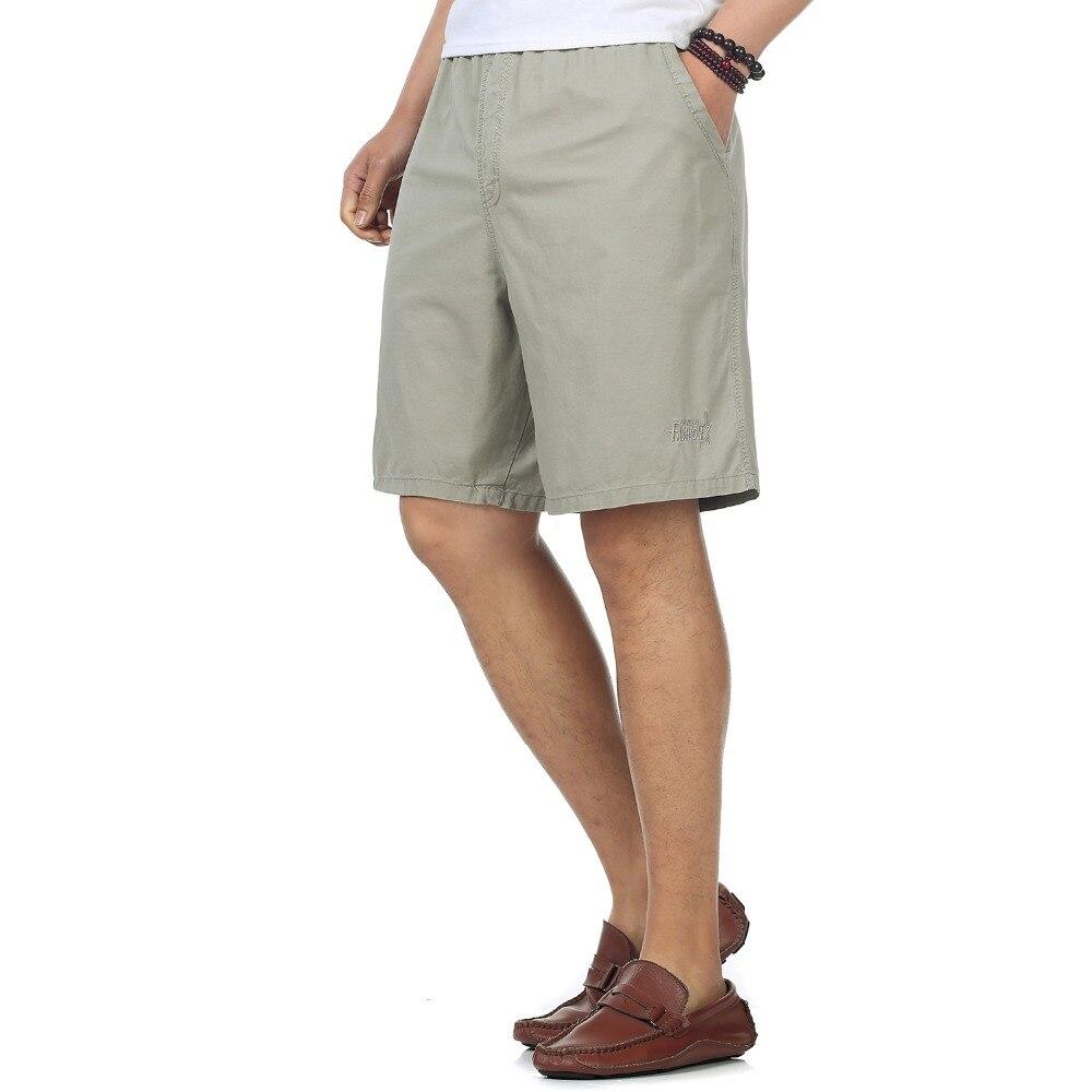 Summer Man Causal Cargo Shorts Elastic High Waist Short Yellow Army Green Gray Beach Shorts Big Yards Comfort Shorts 4XL 5XL 6XL