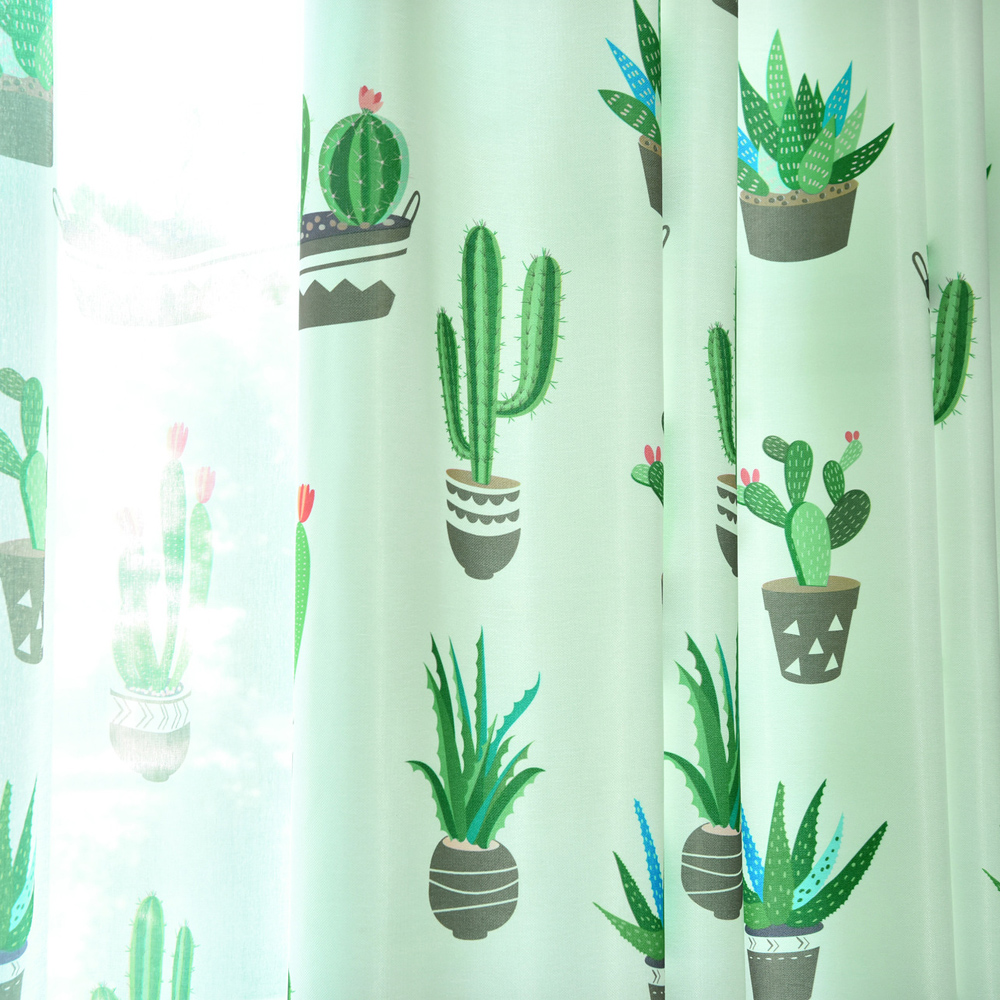 aliexpress : buy cactus cotton linen curtain modern rustic red