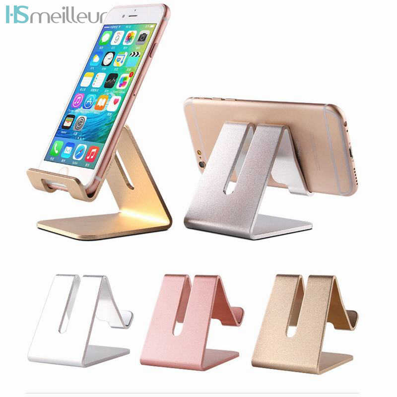 Hsmeilleur Tablet Stand Aluminium Desktop Cell Phone Stand Holder for iPhone X 8 Plus Xiaomi Redmi Note 5 Samsung S9 Tab Support