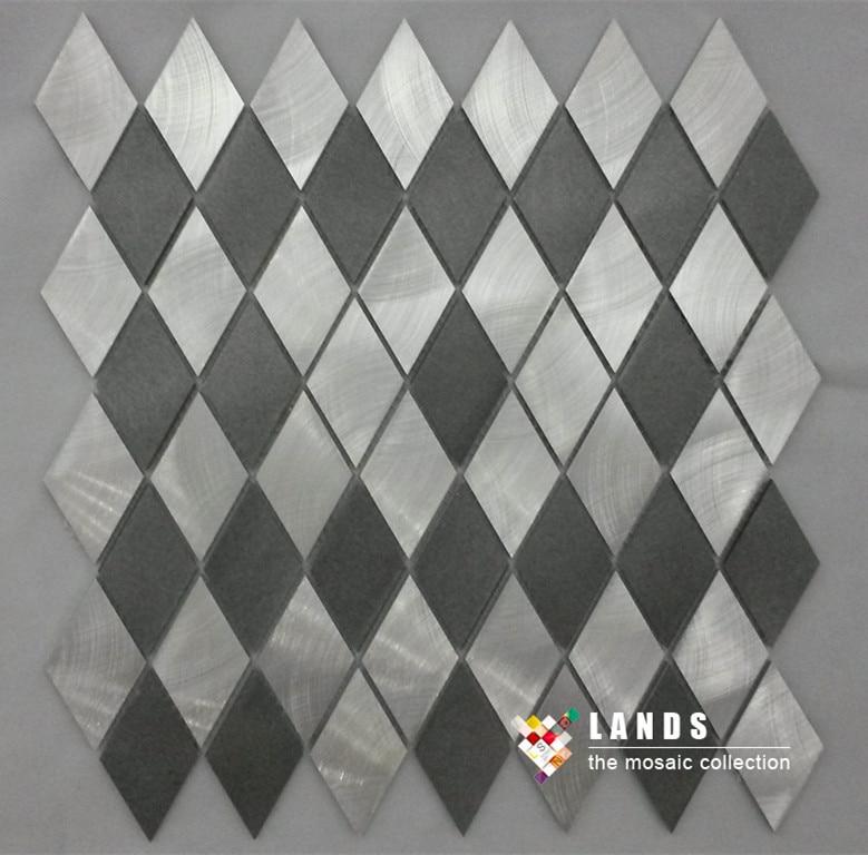 3D Black silver Metal diamond design mosaic,home kitchen backsplash metal wallpaper,Building material DIY sticker,LSALN04 карабин black diamond black diamond rocklock twistlock