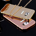 Metal Frame+Mirror Glossy Back Case Bumper Cover For Samsung Galaxy Note 5 7 / S6 / S6 Edge / S6  Edge Plus / S7 / S7 Edge