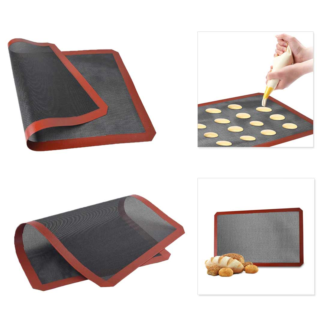 Non Stick Oven Sheet Liner Tool For Cookie Bread Macaroon Biscuit Perforated Silicone Baking Mat Kitchen Bakeware Accessories in Baking Mats Liners from Home Garden