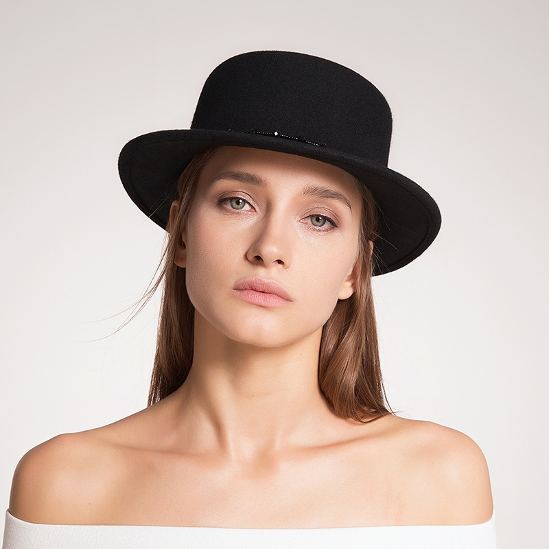 f396162f Sedancasesa wide brim boater hats for women high quality Australia wool  felt hat Autumn Winter fashion ladies fedora capFW038106