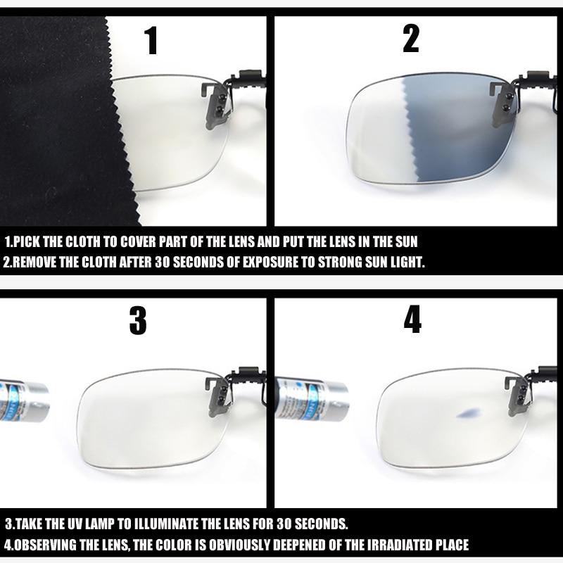 SOOLALA Sun Progressive Multifocal Flip Clip Reading Glasses Men Women Photochromic Anti Blue Bifocal Presbyopia Reading Glasses in Men 39 s Reading Glasses from Apparel Accessories