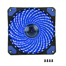 1Pcs PC Computer Case Fan 120mm 33 LED Silent Fan Heatsink Cooling For Computer Cases, CPU Coolers And Radiators Ultra Quiet