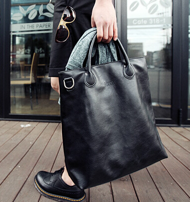 edd51ef57d YESETN BAG hot sale men PU Leather handbag male fashion bag man large tote  top-handles