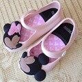 2016 MINI SED bebé niño niña sandalias de lluvia zapatos botas de lluvia de cristal jalea zapatos de Los Niños DEL PVC de goma de la fruta aroma