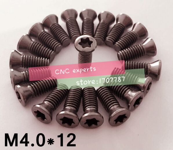 10pcs M4.0*12mm CNC lathe tool spare screws Torx screws(China)