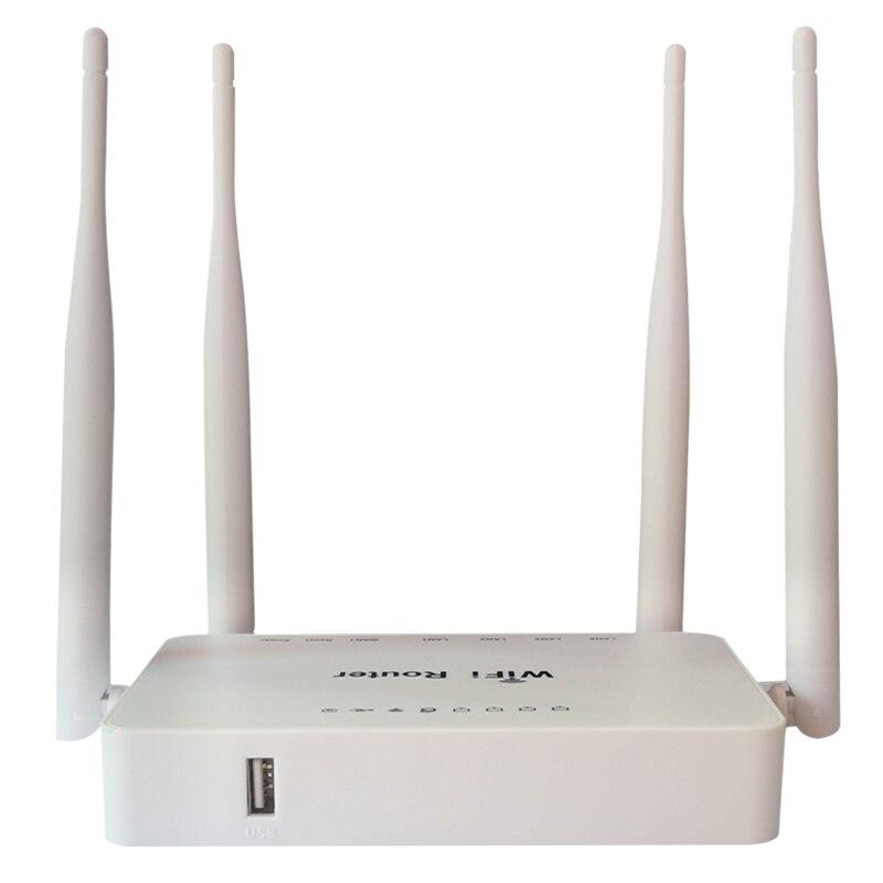 WE1626 Sistema Openwrt Router Wi-fi Sem Fio Para Usb Modem 300 Mbps, sinal Com 4 Strongth Aatennas Router Wi-fi com a cor branca