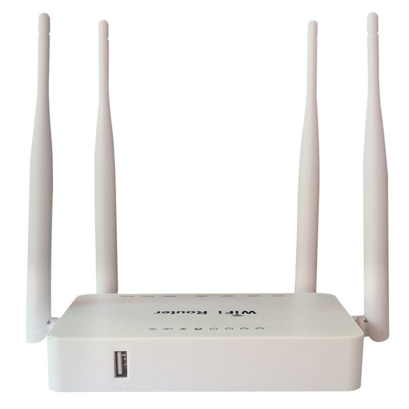 WE1626 Wireless WiFi Router For Usb Modem 300Mbps Openwrt System,Strongth Signal With 4 Aatennas Wifi Router With White Color