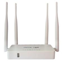 WE1626 Wireless WiFi Router สำหรับโมเด็ม USB 300Mbps OpenWrt ระบบ,strongth สัญญาณ 4 Aatennas WIFI Router สีขาว