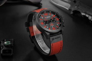 Image 3 - Reloj Hombre 2018 Casual Date Quartz  Watches For Men CURREN Fashion Leather Sports Mens Wrsitwatch Chronograph Male Watch