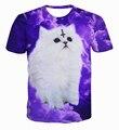 XQXON-fashion 3D t shirt Satan Cat print the love of the devil cute cuddly kittens purple cloud cats casual t-shirt tops