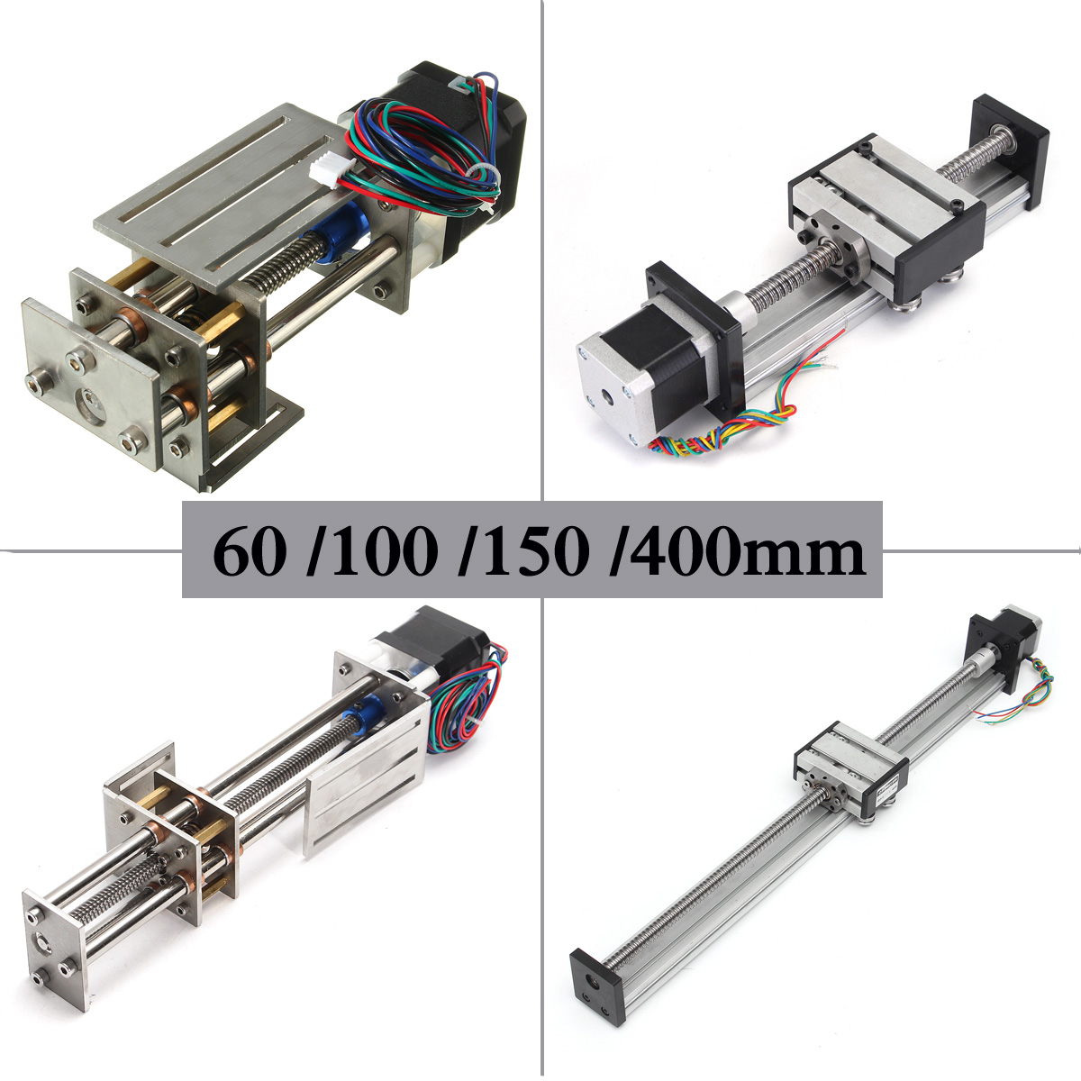 60/100/150 CNC Z Axis Slide / Ball Screw CNC Linear Slide Stroke Motion DIY Linear Motion Milling 3 Axis Engraving