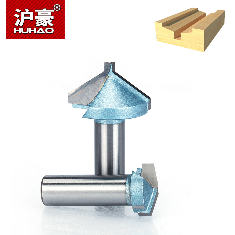 HUHAO 1/4 Shank Half Round bit 2 Flute Endmill Router Bits for Wood Without Bearing Woodworking Tool Milling Cutter huhao 1pcs 1 2 1 4 shank classical router bits for wood tungsten carbide woodworking endmill tools classical mounlding bit
