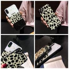 Leopardo Impressão Modelado Caixa Do Telefone Para Apple iphone X 7 8 6 6 S Xs Mais Max Xr Caso Retro suave TPU Tampa Traseira Para O iphone 10 Coque(China)