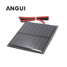 لوحة طاقة شمسية 1 فولت 1.5 فولت 2 فولت 3 فولت 3.5 فولت 4 فولت 100mA 120mA 150mA 250mA 300mA 350mA 435mA 500mA بطارية شاحن هاتف خلوي مع سلك توصيل