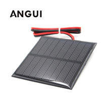 Painel solar de 1v 1.5v 2v 3v 3.5v 4v, painel solar de 100ma 120ma 150ma 250ma 300ma 350ma carregador de celular 435ma 500ma, bateria com fio conector