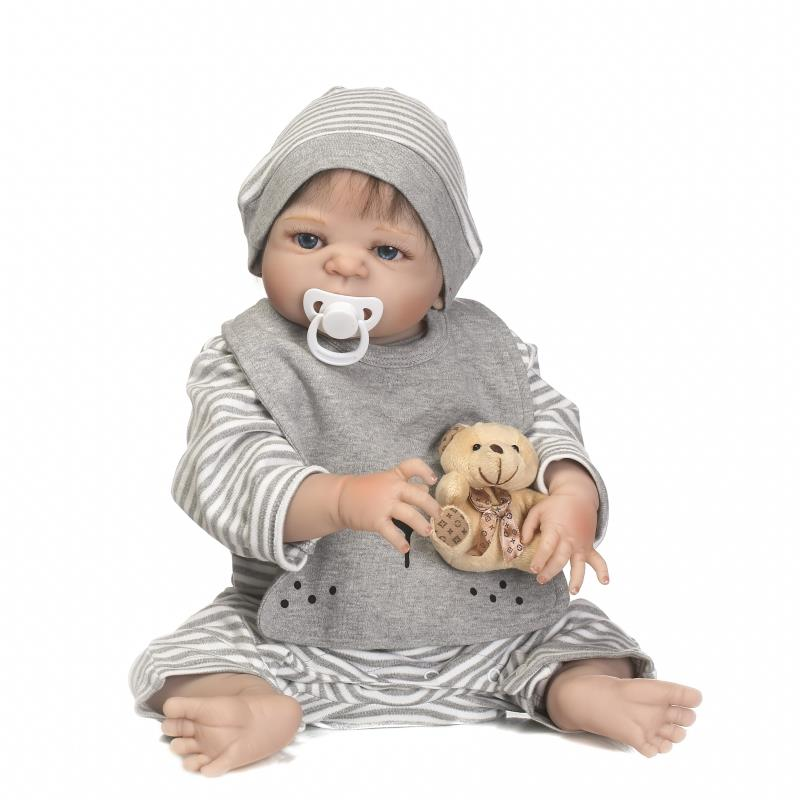 23Full Body Silicone Reborn Dolls Lifelike Baby Boy Girl Dolls Can Bath Reborn Bebe Boneca Toy Reborn Realista Kid Gift npk bebe gift realista reborn dolls 23 inch 57cm full silicone body reborn babies boy dolls children new year gift bath toys bon