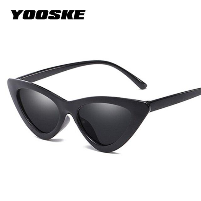 18c060676 YOOSKE Olho de Gato Óculos De Sol Retro Mulheres Designer de Marca Óculos  de Sol para