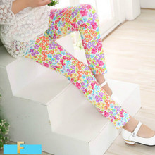 Kids Pant Leggings 2018 Spring Summer New Fashion Children's 2-14 Year Cotton Pant Girls KidsTrousers Print Legging 18 Colors