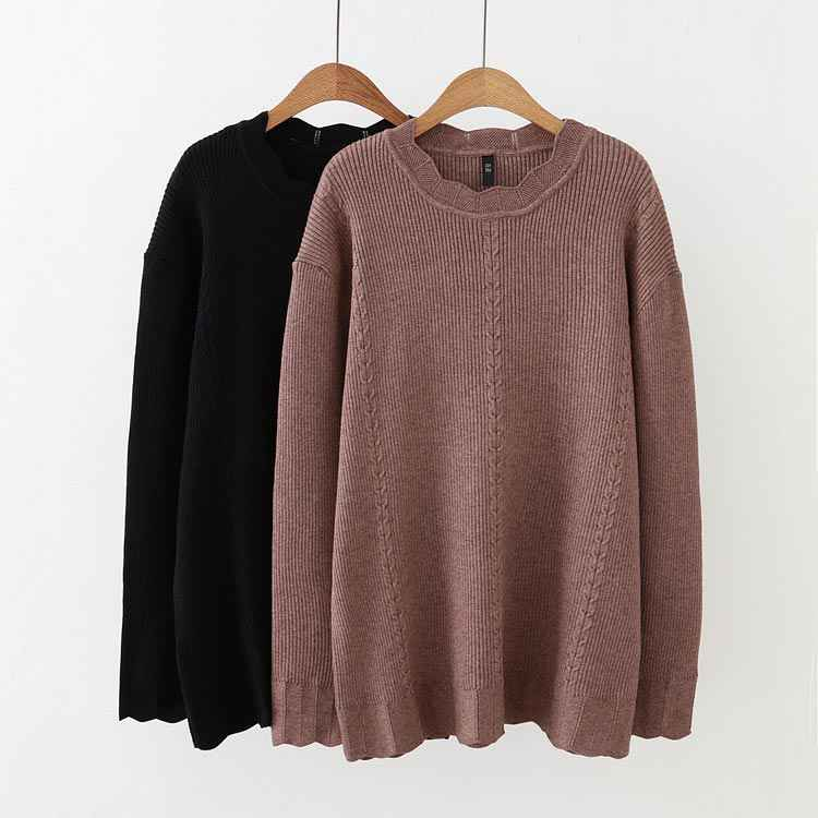 F7 осень-зима Свободные свитеры 5XL плюс Размеры женская одежда модные свободные вязаные свитера и пуловеры 206