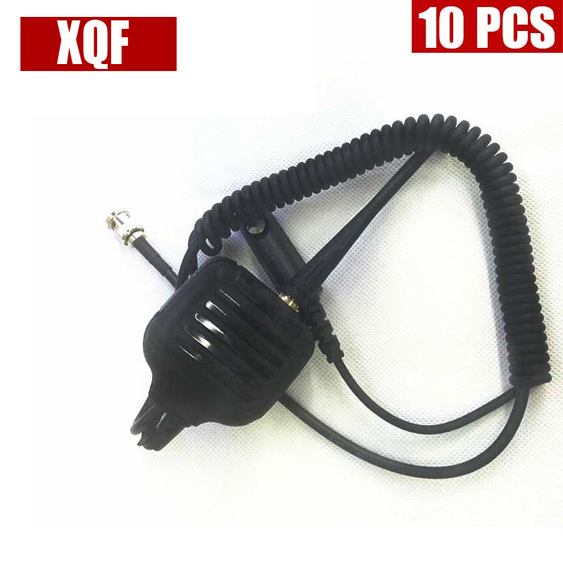 XQF 10PCS  Speaker Microphone For Motorola Radio GP328 GP340 GP360 GP380 With Antenna
