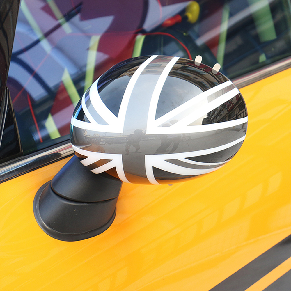 цена на 2pcs Door Rear View Mirror Covers Stickers Car-styling For Mini Cooper S Clubman Countryman Paceman R55 R56 R57 R58 R59 R60 R61