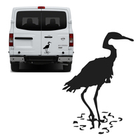 Free Shipping 1PC Lucky Chinese Bird Pet Red Crowned Crane Graphic Vinyl Sticker For NV Truck
