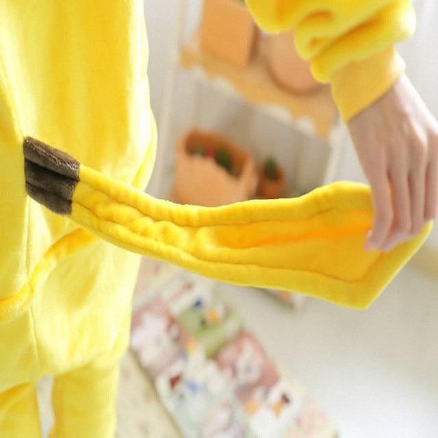 Free ship Christmas Japan Adult Pokemon Pikachu Kigurumis Cosplay Footed One Piece Pajamas Onesie Costume Fleece Clothing XL