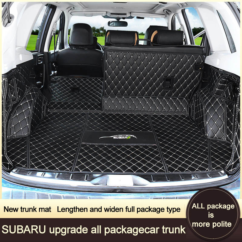 QHCP PU Leather Car Full Trunk Mat Waterproof Cargo Car Boot Mat Non-slip Design For Subaru Outback Forester 2015 2016 2017 2018 free shipping luxury pu leather car trunk mat cargo mat for chevrolet malibu holden 2016 9th generation