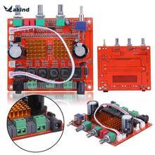 Check Discount Amplifier AMP Board TPA3116D2 2.1 HIFI Digital Subwoofer Amplifier Verst Board 12V 50Wx2+100W 24 For Car Home Amplifier